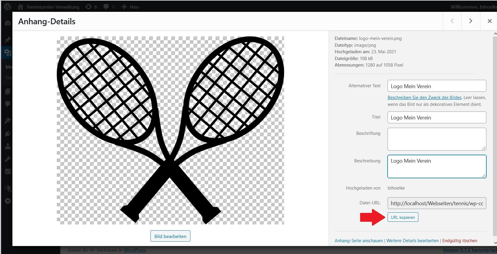 Wordpress Plugin - Vereinslogo für die PDF-Turnierausschreibung